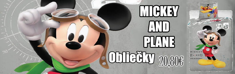 detske obliecky mickey and plane